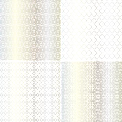 Metallische silberne marokkanische geometrische Muster vektor