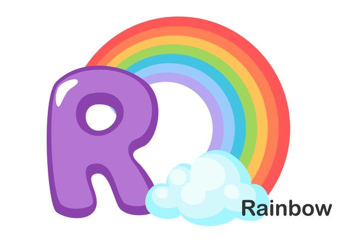 R för Rainbow vektor