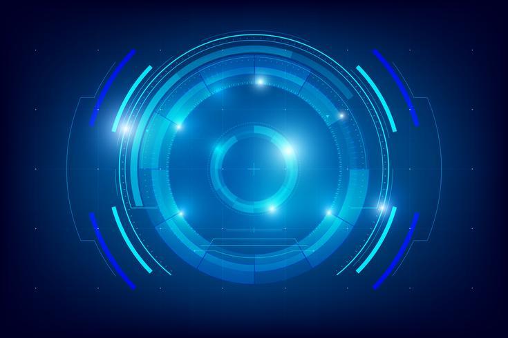 Abstrakter HUD-Technologiehintergrund 004 vektor