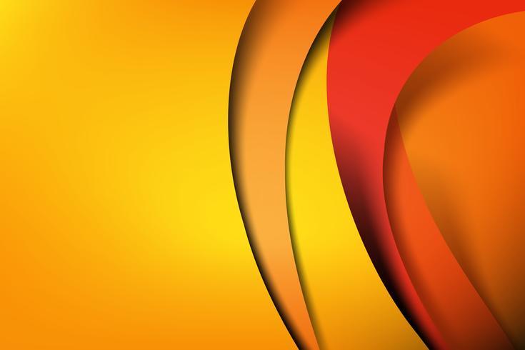 Dunkle und schwarze Schicht des orange und gelben abstrakten Hintergrundes überschneidet 001 vektor