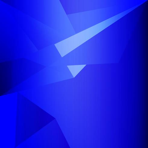 blaues niedriges Polygon und geometrischer Hintergrund im Vintage- und Retrostil vektor