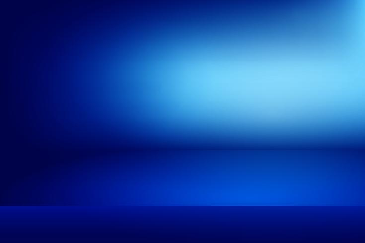 blå horisontell studio gradient vägg rum, Modern inredning bakgrund vektor