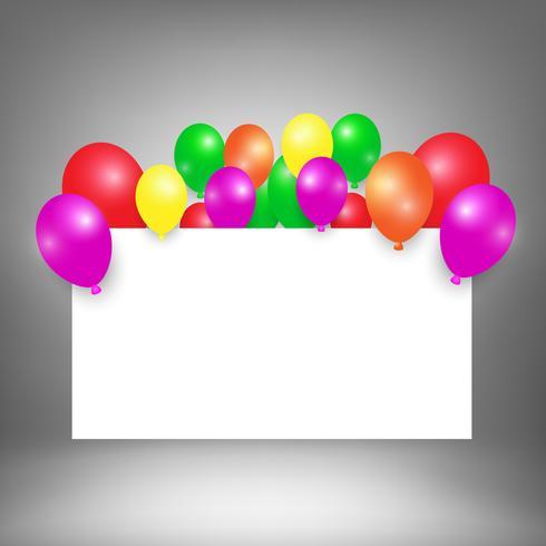 Grattis på födelsedagen vit kartong bakgrund för din text vektor