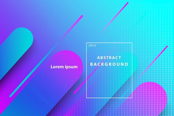 buntes abstraktes geometrisches mit dunkelblauer und rosa Abdeckung und Tapetenhintergrund vektor