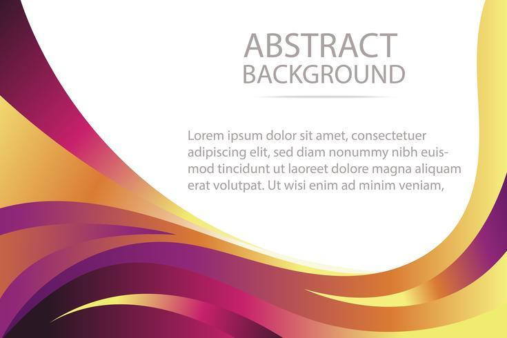 bunte abstrakte violette und orange Wellenhintergrundfahne und -tapete vektor