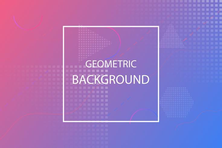 färgglad minimal geometrisk abstrakt bakgrund, rosa och violett mall vektor