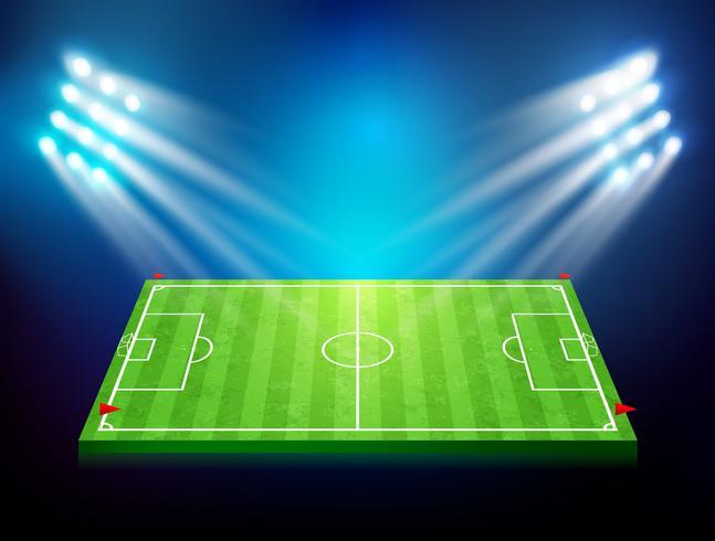 Fotbollsplan med stadion 003 vektor