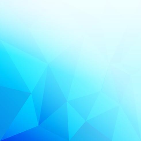 blaues niedriges Polygon und geometrischer Hintergrund vektor