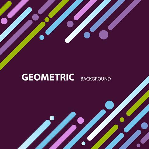 färgstark abstrakt geometrisk tapet bakgrund vektor