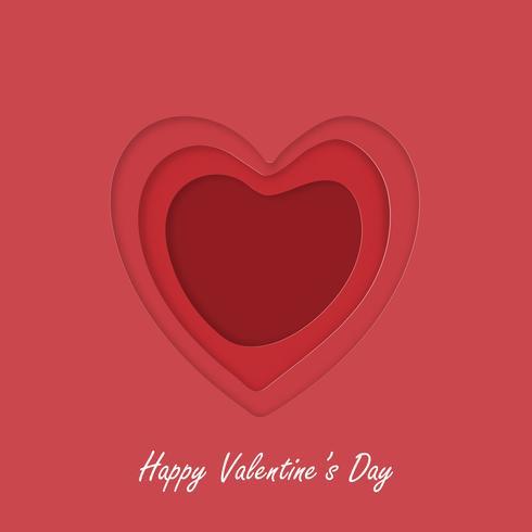 Kreativt hälsningskort valentins dagkoncept. vektor