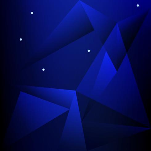 blå låg polygon och geometrisk bakgrund i vintage och retro stil vektor
