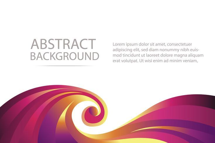 färgstark abstrakt violett och orange våg bakgrunds banner och tapeter vektor