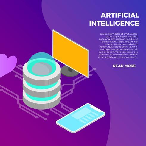 Smart Watch mit künstlicher Intelligenz vektor