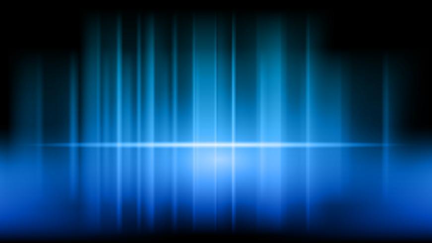 Scen och presentation av produkt på blå showroom studio bakgrund vektor