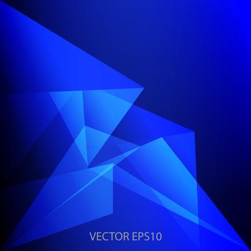 blå låg polygon och geometrisk bakgrund vektor