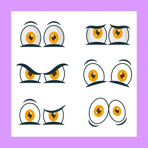 tecknad film ögon vektor clipart samling