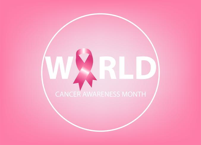 Realistiskt rosa band, bröstcancermedvetenhetssymbol vektor