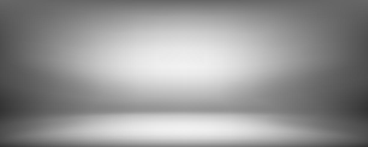 grå bakgrund, svart och grått abstrakt vägg och studio rum vektor
