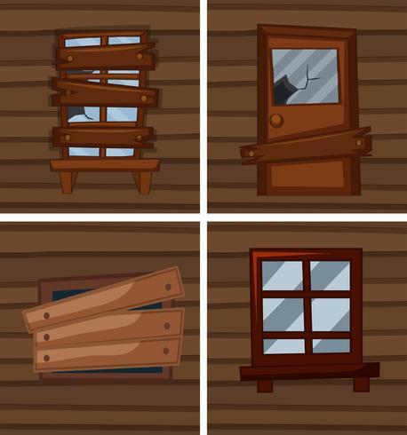 Unterschiedliche Bedingungen für Fenster vektor