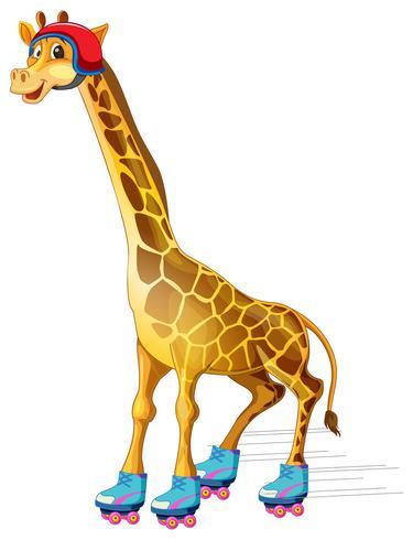 En giraffskridskoåkning vektor