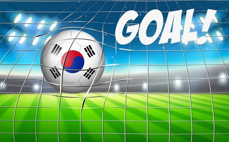 En sydkoreansk fotboll flagga vektor