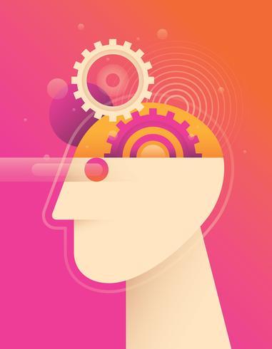 Mental hälsa illustration vektor