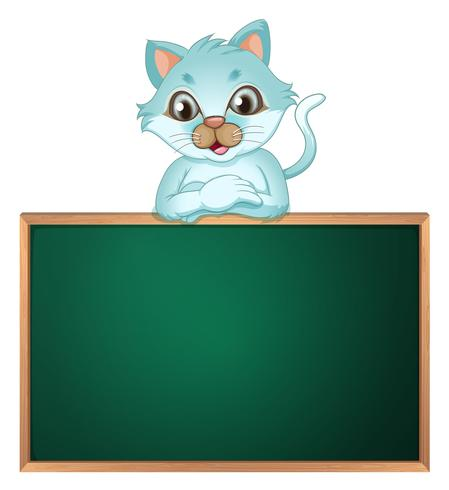 Eine Katze über der Greenboard vektor