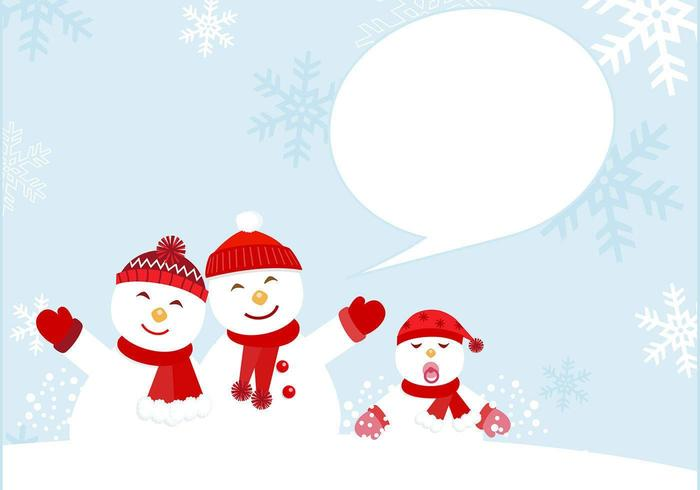 Snowman familjekort vektor