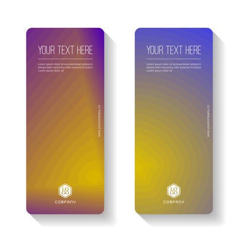 Färgglatt Gradient Abstrakt affärsbanksmall, vertikalt banderollskort. vektor