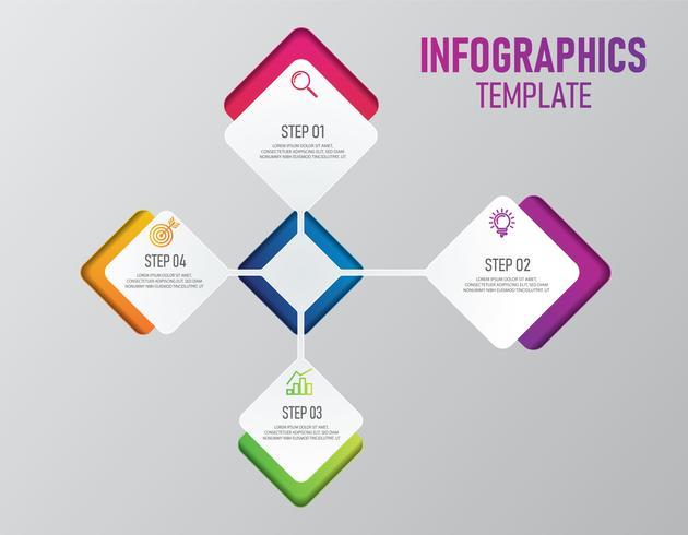 Bunte Infografiken der Geschäftspräsentation vektor