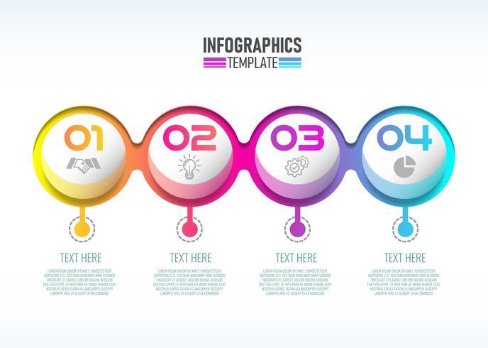 Vektor modern Infographic 3d etikett, mall design. Affärsidé, Infograf med nummer 4 alternativ.