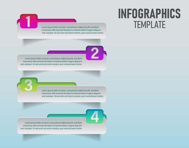 vektor färgstark infographics mall för din affärsplanering med 4 steg