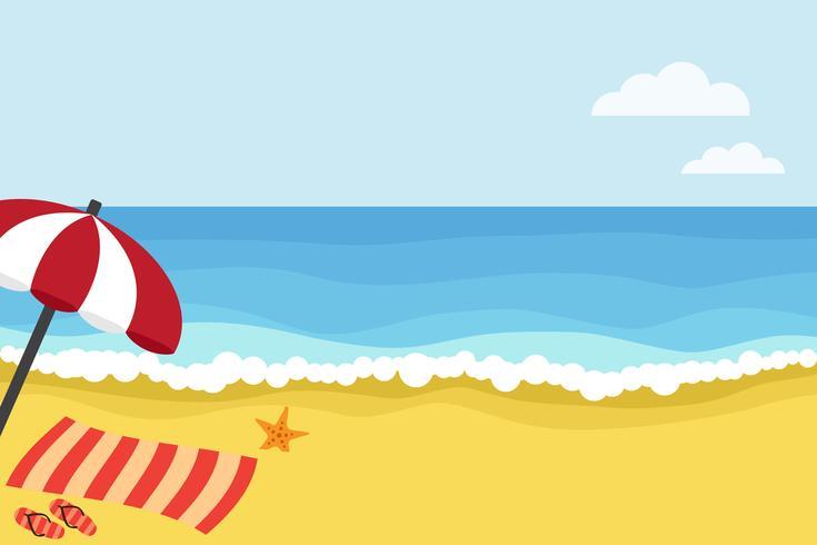 Zeit zum Strand vektor