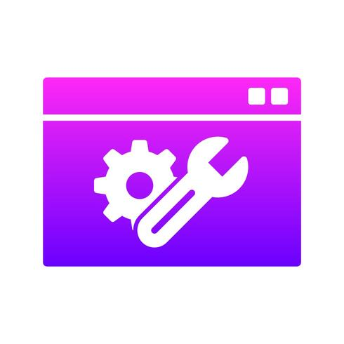 SEO, Sökmotoroptimering UI glyph Icon med Gradient Color Background vektor