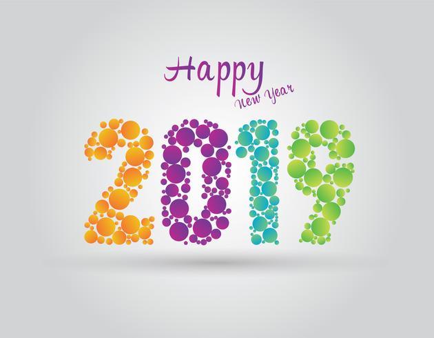 Vektor 2019 lyckligt nytt år bakgrund