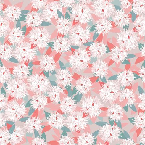 Blommigt sömlöst mönster. Blomma bakgrund. Trädgårds natur prydnad vektor