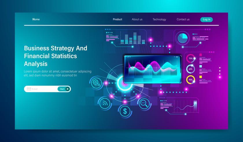 Modernes flaches Design der Geschäftsstrategie vektor