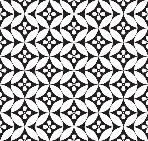 Abstrakt blommig prydnad. Geometrisk linje sömlös mönster vektor