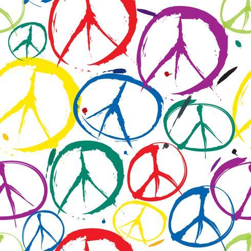 Friedenszeichen Muster Nahtloser Hintergrund des Friedenssymbols. Frieden. Peac vektor