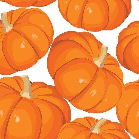 Gemüse Kürbis nahtlose Muster. Gesundes Essen Hintergrund. vektor