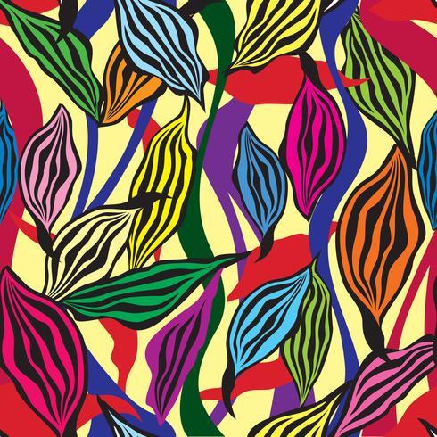 Blumenmuster. Lässt nahtlosen Hintergrund. Ziergarten vektor
