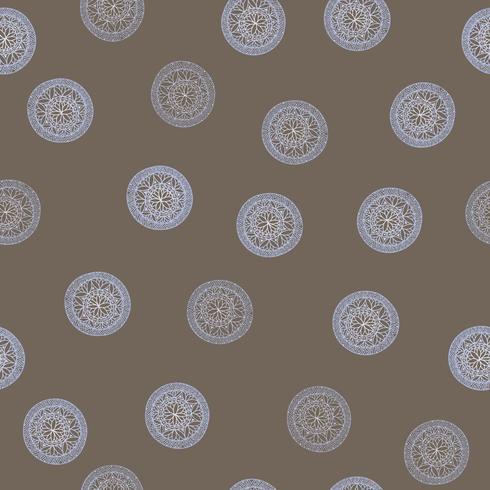 Abstrakt geometriskt mönster. Blomcirkel orientalisk etnisk bakgrund. vektor