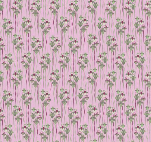 Nahtlose Blümchenmuster Blumen Hintergrund Gartennaturverzierung vektor