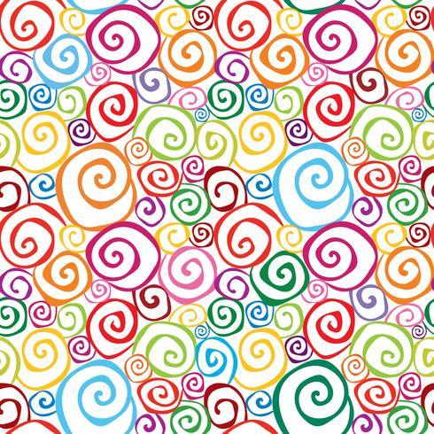 Abstrakt ornamental sömlös mönster. Virvla runt geometrisk bakgrund vektor