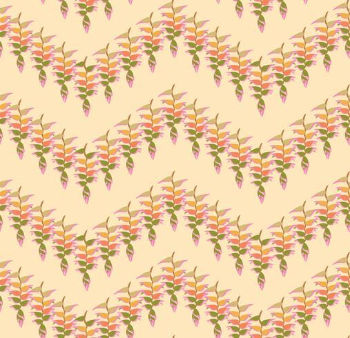 Blumenblattmuster. Nahtloser Hintergrund. Naturstrudel-Blattverzierung vektor
