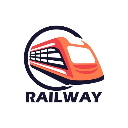 Zug Eisenbahnikone lokalisiert auf weißem Hintergrund vektor