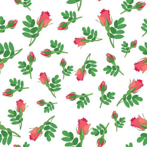 Nahtlose Blümchenmuster Blumen Hintergrund Ornamentale Textur vektor