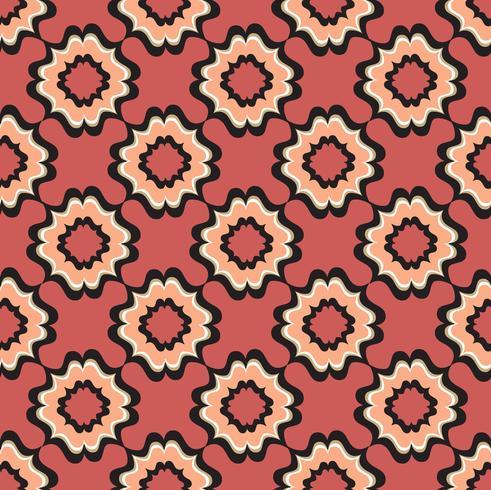 Nahtloses Blumenmuster. Abstrakte Blumenverzierung. Orientalische Textur vektor