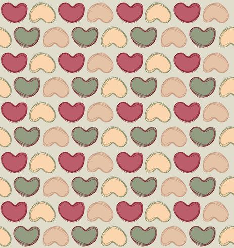Valentinstagfeiertagsfliesenverzierung des Liebesherzgekritzels nahtlose Muster vektor