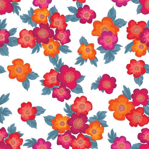 Blommigt sömlöst mönster. Blomma bakgrund. Blommig trädgårdsteknik vektor